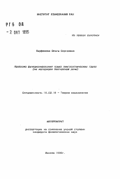 Проблема функционирования языка лингвоэтнических групп  Полный текст автореферата диссертации по теме Проблема функционирования языка лингвоэтнических групп