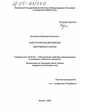 Энергетическая дипломатия Европейского Союза автореферат и  Диссертация по политологии на тему Энергетическая дипломатия Европейского Союза