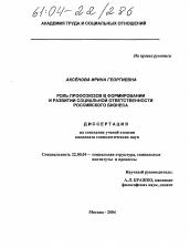 Роль профсоюзов в формировании и развитии социальной  Диссертация по социологии на тему Роль профсоюзов в формировании и развитии социальной ответственности российского бизнеса